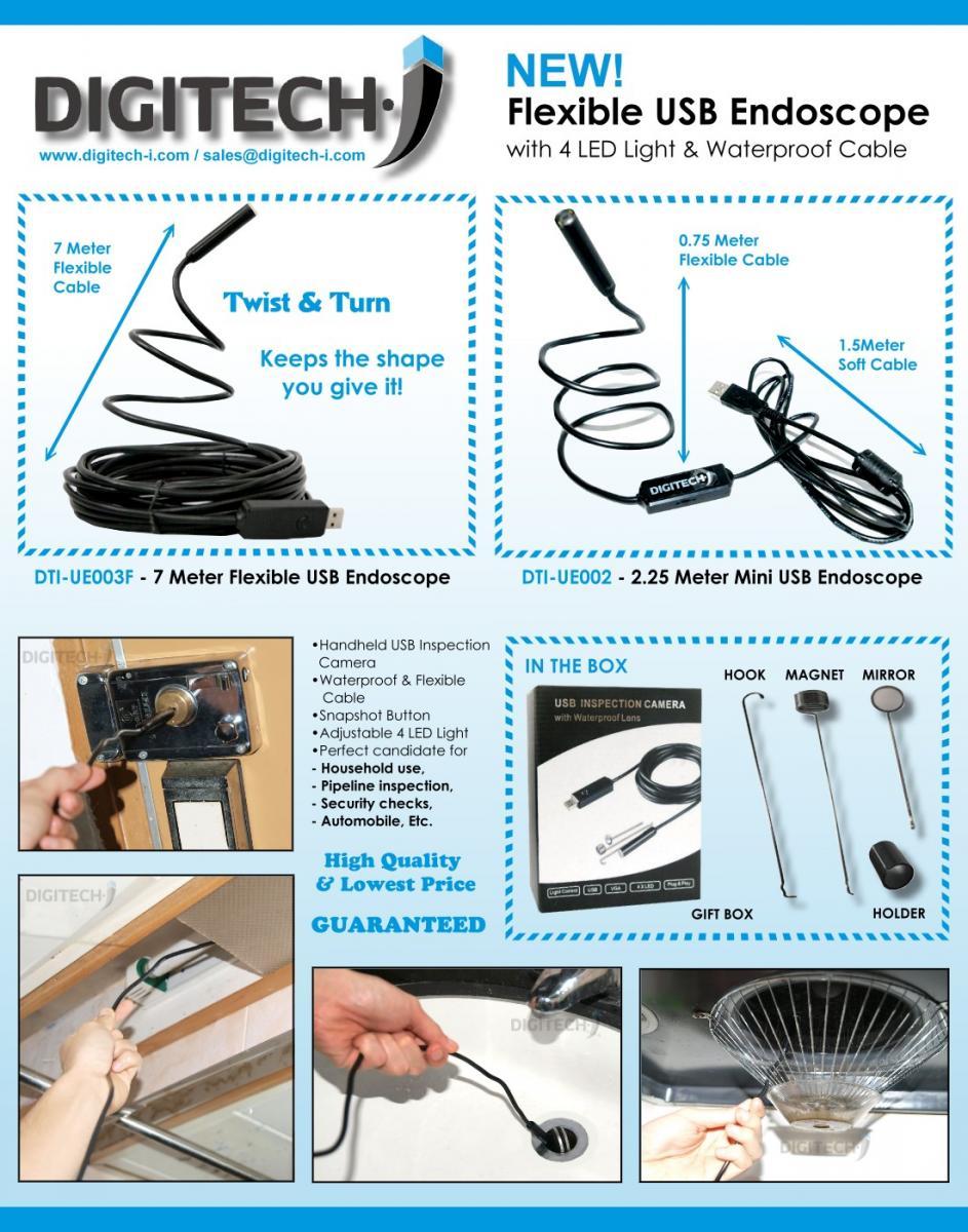 New! 7 Meter Flexible USB Inspection Camera! - News